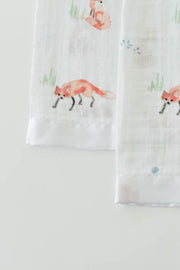 Cotton Muslin Security Blankets - Fox
