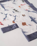 Cotton Muslin Security Blankets - Shark