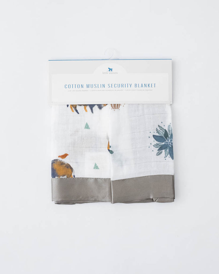 Cotton Muslin Security Blankets - Bison + Prickle Pots