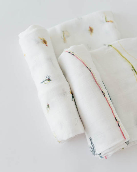 Deluxe Swaddle Set - Gone Fishing