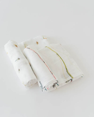 Deluxe Muslin Swaddle Blanket Set - Gone Fishing