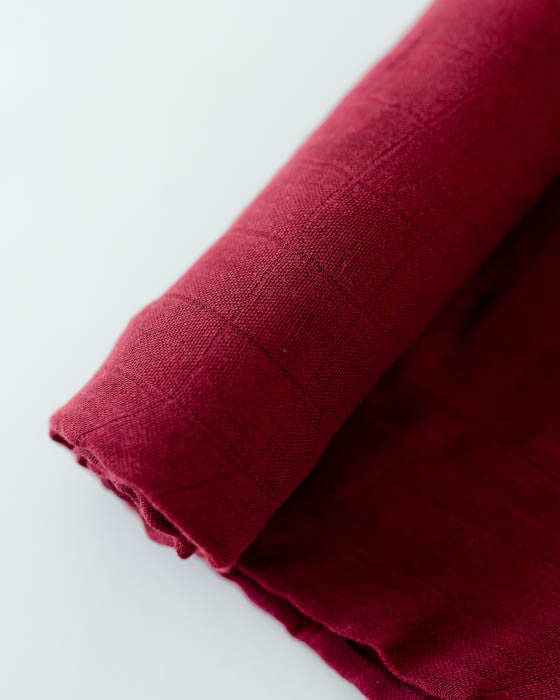 Deluxe Muslin Swaddle Blanket - Pomegranate