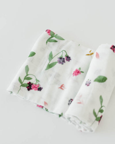 Deluxe Muslin Swaddle Blanket - Berry Patch