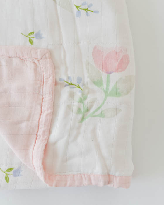 Deluxe Muslin Quilt - Pink Peony