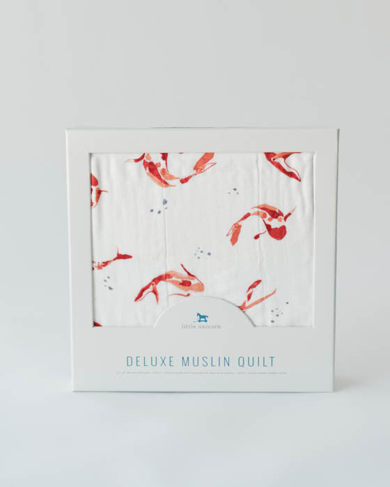 Deluxe Muslin Quilt - Fish Pond