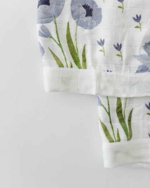 Deluxe Security Blankets - Blue Windflower