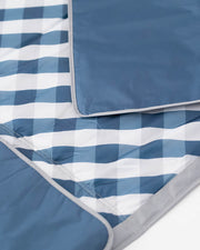 5 x 5 Outdoor Blanket - Navy Gingham