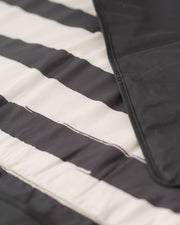5 x 5 Outdoor Blanket - Black and White Stripe