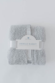 Chenille Receiving Blanket - Grey