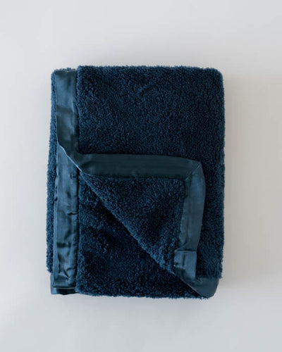 Chenille Receiving Blanket - Navy