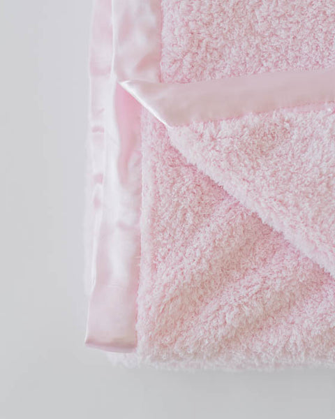 Chenille Receiving Blanket - Pink