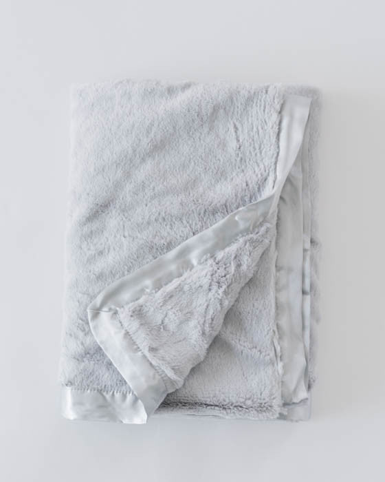 Plush Receiving Blanket - Grey