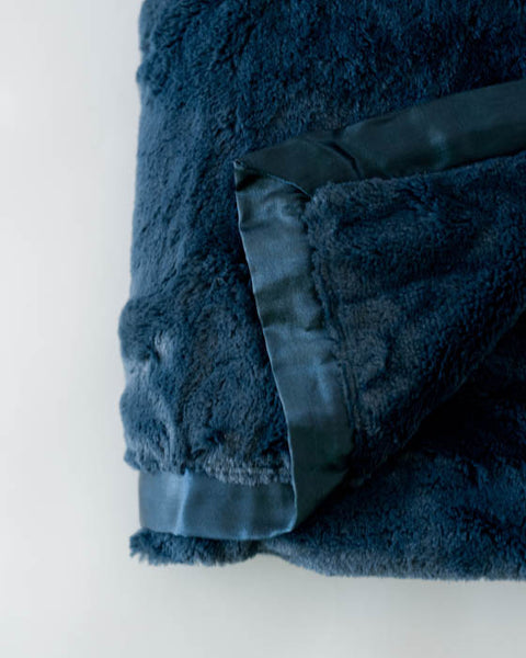 Plush Receiving Blanket - Navy