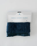 Chenille Security Blanket - Navy