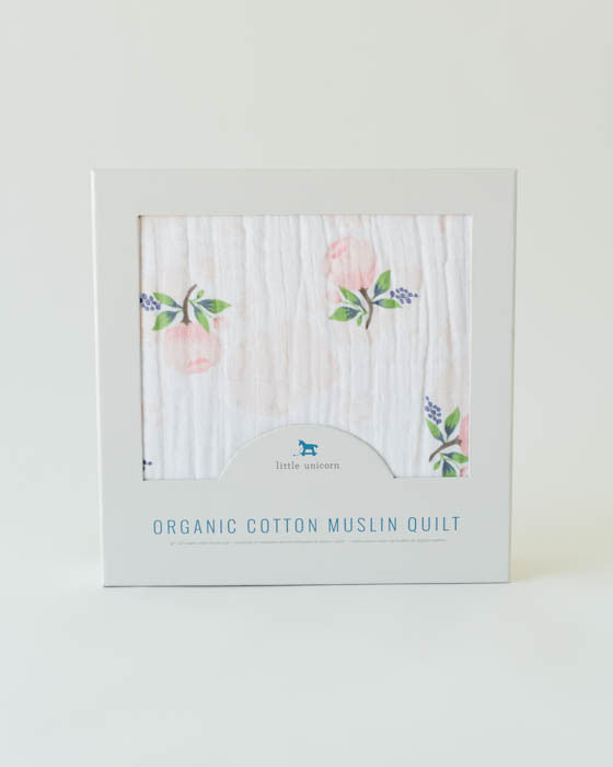 Little Unicorn Organic Cotton Muslin Quilt - Watercolor Rose