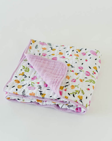 Organic Cotton Muslin Quilt - Berry & Bloom