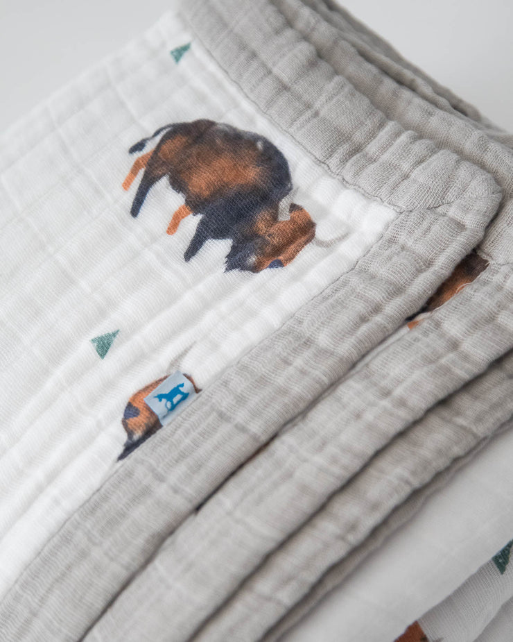 Big Kid Cotton Muslin Quilt - Bison