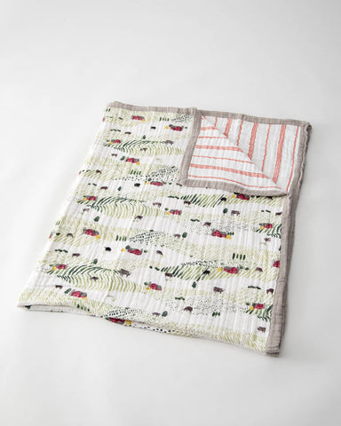 Big Kid Cotton Muslin Quilt - Rolling Hills
