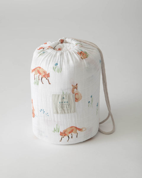 Big Kid Cotton Muslin Quilt - Fox