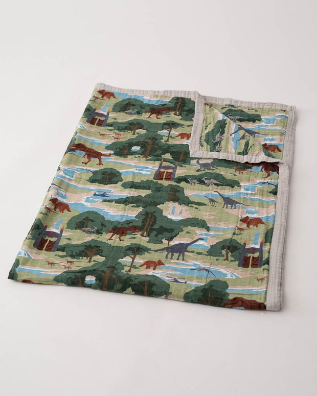LU + Jurassic World Big Kid Cotton Muslin Quilt - Jurassic World