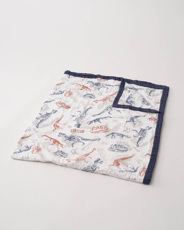LU + Jurassic World Big Kid Cotton Muslin Quilt - Paleontologic
