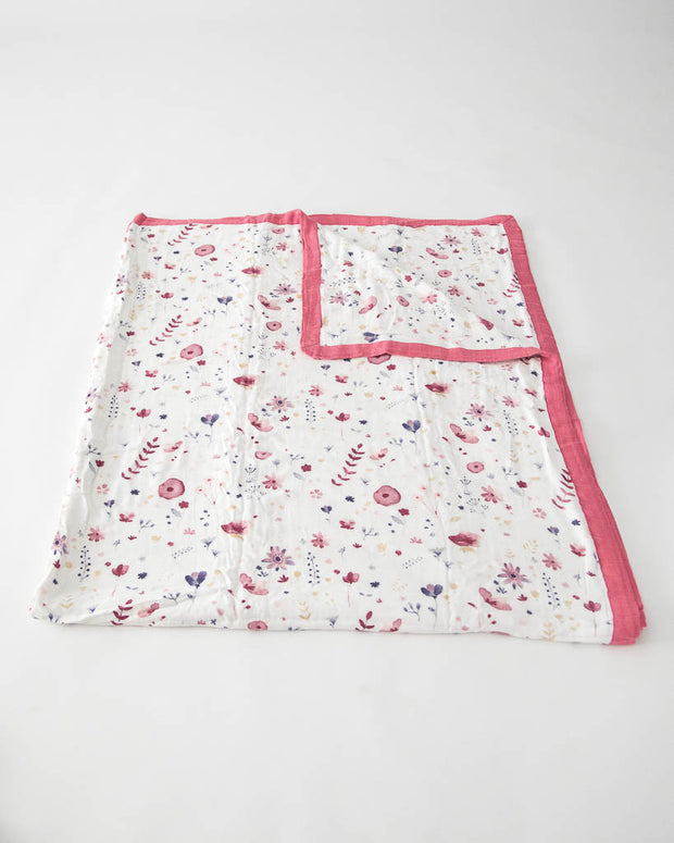 Big Kid Deluxe Muslin Quilt  - Fairy Garden