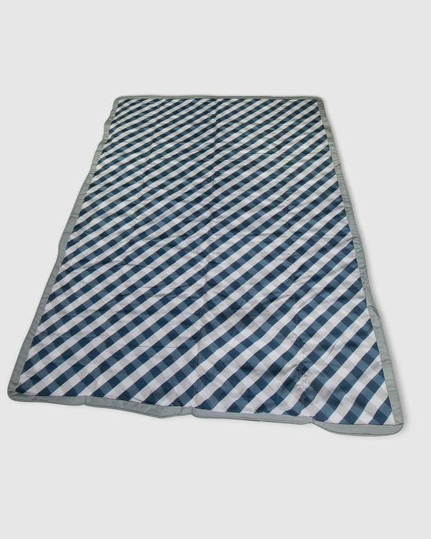 5 x 7 Outdoor Blanket - Navy Gingham
