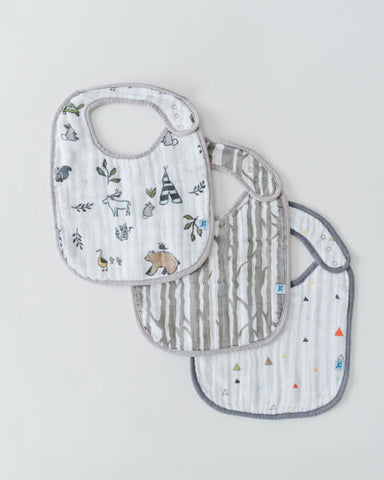 Cotton Muslin Classic Bib - Forest Friends