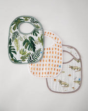 Cotton Muslin Classic Bib 3 pack - Gators Set
