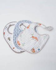 Cotton Muslin Classic Bib 3 pack - Fox Set