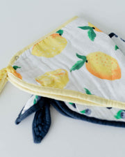 Cotton Muslin Bandana Drool Bib - Berry Lemonade