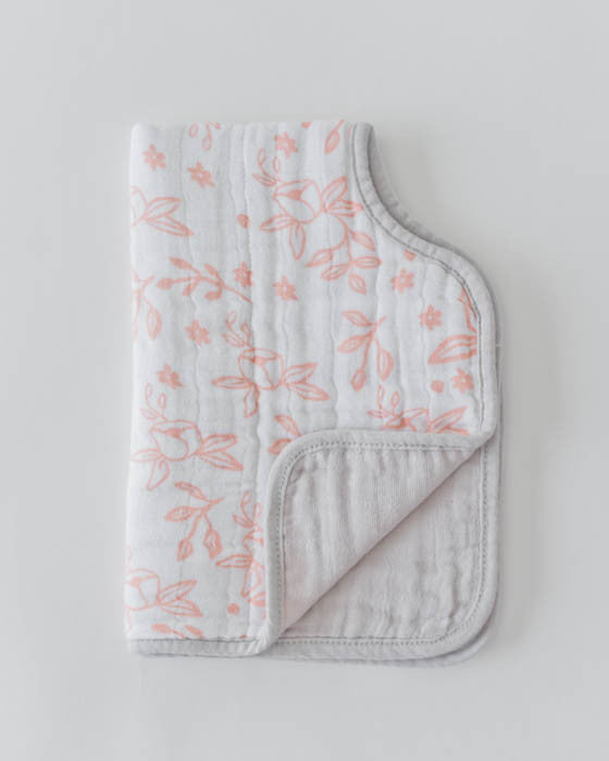 Cotton Muslin Burp Cloth - Garden Rose