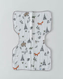 Cotton Muslin Burp Cloth - Forest Friends