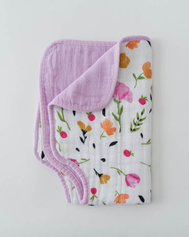 Cotton Muslin Burp Cloth - Berry & Bloom