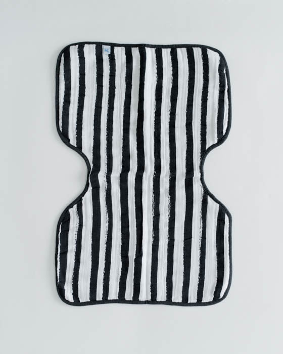 Cotton Muslin Burp Cloth - Ink Stripe