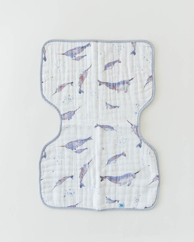 Cotton Muslin Burp Cloth - Narwhal