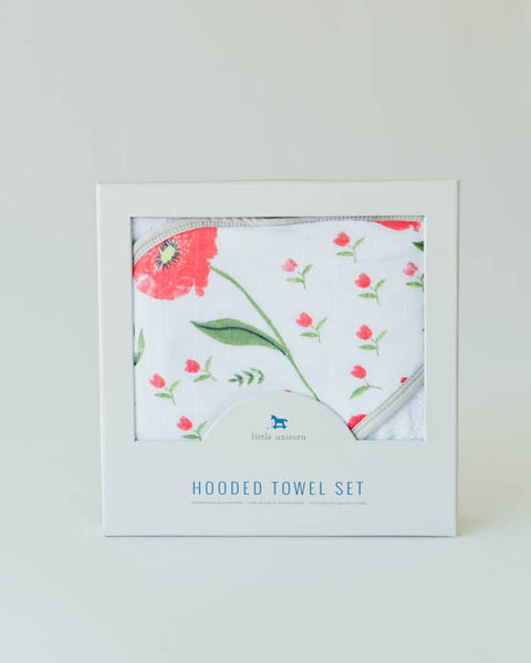 Hooded Towel Set - Summer Poppy