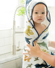 Hooded Towel & Washcloth Set - Dino Friends