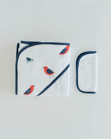 Hooded Towel & Washcloth Set - Little Wings