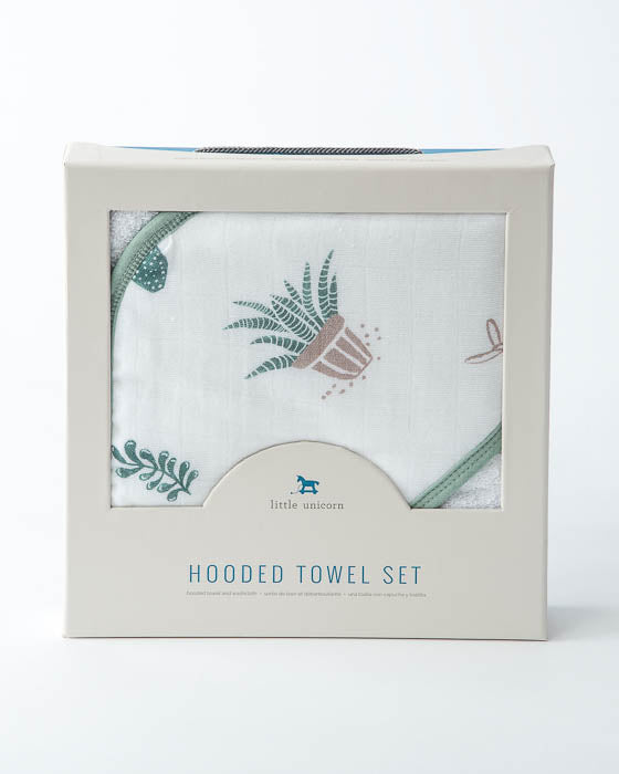 Hooded Towel & Washcloth Set - Prickle Pots