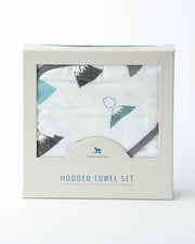 Hooded Towel & Washcloth Set - Lava Lava