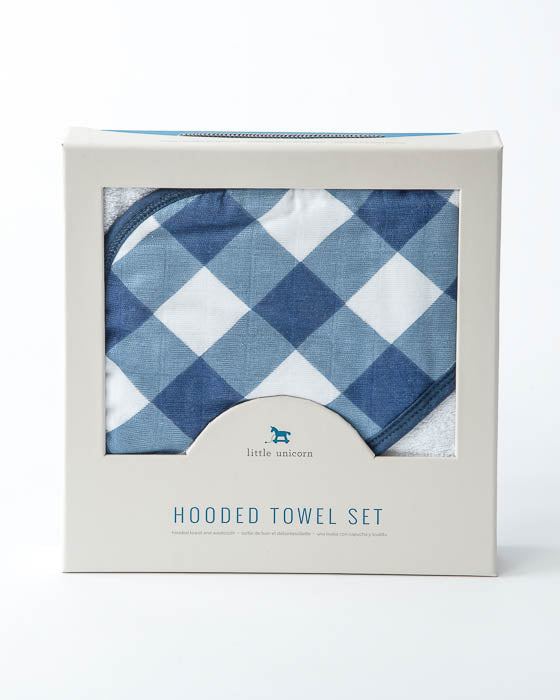 Hooded Towel & Washcloth Set - Jack Plaid