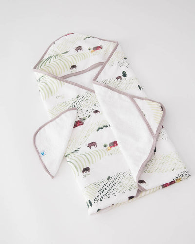 Hooded Towel & Washcloth Set - Rolling Hills