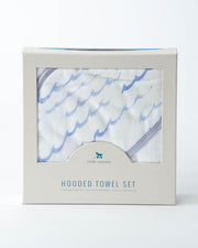 Hooded Towel & Washcloth Set - High Tide