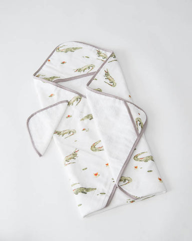 Hooded Towel & Washcloth Set - Gators