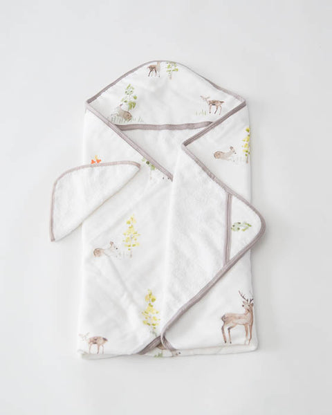 Hooded Towel & Washcloth Set - Oh Deer