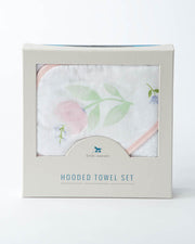 Hooded Towel & Washcloth Set - Pink Peony