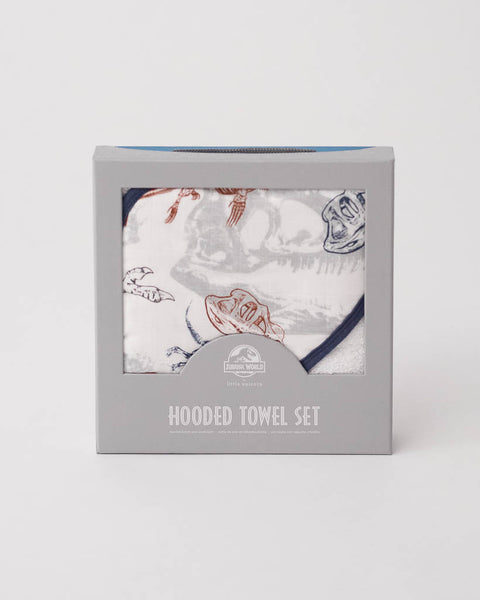 LU + Jurassic World Hooded Towel & Washcloth Set - Paleontologic