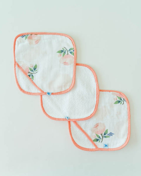 Washcloth Set - Watercolor Rose