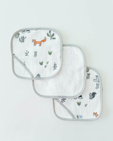 Washcloth Set - Forest Friends